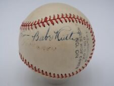 BABE RUTH PSA/DNA CERTIFIED AUTHENTIC SINGLE SIGNED BASEBALL AUTOGRAPH YANKEES