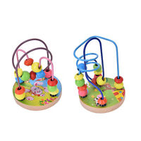 1 PCS Children Kids Baby Colorful Wooden Mini Around Beads Educational Toy SO0