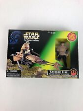 Star Wars Luke Skywalker Figure & Imperial Speeder Bike Toy, 1996 - NEW Unopened