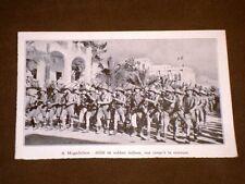 Mogadichou en 1936 Défilé de soldats italiens Mogadiscio