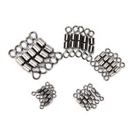 20pcs/lot double rolling swivel barrel fishing tackle connector accessories A_ex