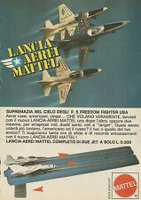 X7536 Lancia aerei Mattel - Pubblicità 1977 - Vintage Advertising