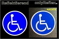 Rollstuhl Aufkleber rund, reflektierend