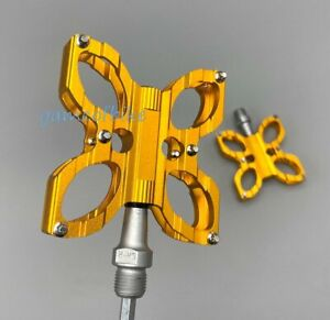 butterfly Pedal Road MTB Bike AM City Cruiser Bicycle Flat Cycling Pedals Gold