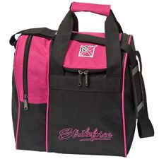 KR Rook 1 Ball Bowling Bag with Shoe Pocket Color Pink/Black