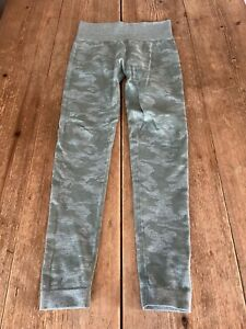 Gorgeous GYMSHARK Green Camouflage Print High Waisted Gym Fitness LEGGINGS, S