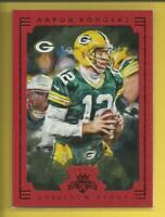 Aaron Rodgers 2015 Panini Gridiron Kings FRAMED RED Card Green Bay Packers NFL