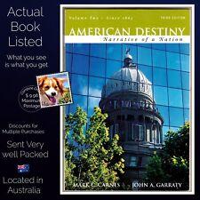 American Destiny: Narrative of a Nation Vol 2 3rd Ed Mark C Carnes PB 2008 VG++