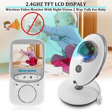 2.4G Wireless LCD Digital Baby Monitor Audio Video Cam Night Vision Safety Sleep