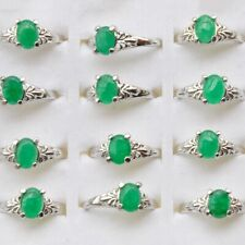 20/10pcs Charm Wholesale Mixed Lots Natural Stone Silver Plated Rings Jewelry