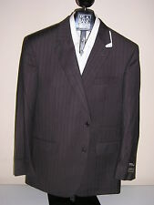 $1295 new Jos A Bank Signature Gold  Brown stripe suit 42 X L  36 W tailored fit