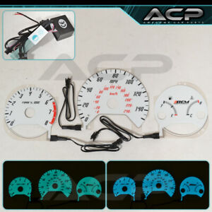 For 98-02 Honda Accord 4 Cylinder MT Indiglo Gauge White Blue Green Glow