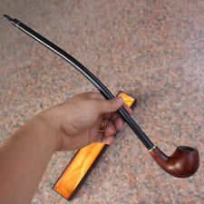 41cm Durable Long Wooden Wood Modern Tobacco Smoking Pipe Churchwarden Gift Box