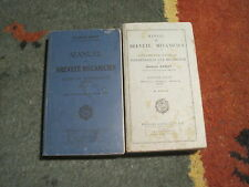 Georges RAMAT: lot/Manuel du breveté mécanicien. 2 volumes