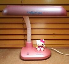 Sanrio Hello Kitty Adjustable Pink Desk Lamp Fluorescent Bulb Model HK91P