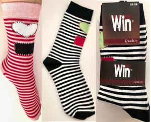 10,15, 20, 20 Paar bunte Streifen Socken *Win Quality*
