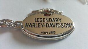 Harley davidson Edelstahl Schlüsselanhänger ring Armband pin fat leder