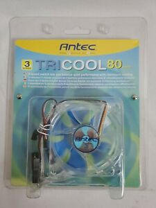 Antec TriCool 80mm Cool Fan 3-Speed Switch Quiet Performance Maximum Cooling