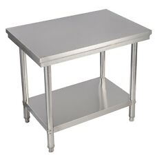 """24""""x36"""" Stainless Steel Restaurant Kitchen Food Prep Desk Table with Shelf Mount"""