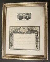 Framed SCOTTISH FIELD TELEGRAM from KING EDWARD VIII to 60th Anniversary Couple