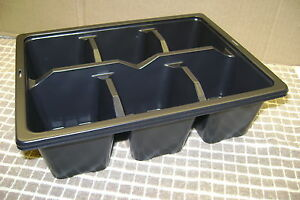 6 CELL 1/2 SIZE PLASTIC SEED TRAY INSERTS CHOOSE FROM 5 SEED TRAY INSERTS UP TO
