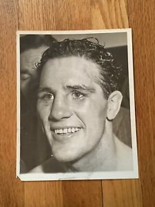 Stunningly Clean Original 1940 Billy Conn Type 1 Boxing Photo Mint