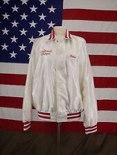 Vintage Baseball Jacket MSA 1985 Nat'l Champs Off White Women's Off White Sz L