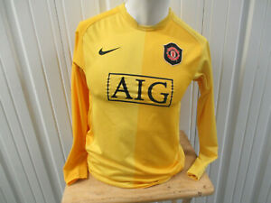 VINTAGE NIKE MANCHESTER UNITED SEWN YOUTH GOALIE LARGE JERSEY 2006 KIT WOMENS