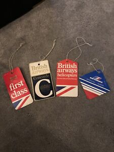British Airways (First Class & Concorde) & Air France Luggage Tags
