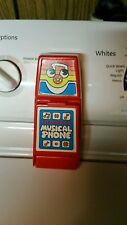 Vintage Playskool Musical Electronic Phone Tested Works 1982 Retro Buttons Red