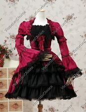 Victorian Gothic Lolita Dress Witch Cosplay Vampire Punk Halloween Costume 233 S
