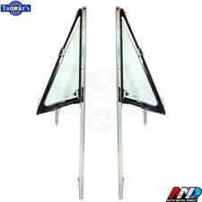 68-72 C/K Pickup Truck DOOR VENT Wing Window TINTED Glass Chrome Frame AMD PAIR