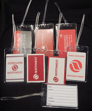 Luggage tag Northwest Airlines w/playing card choose from multiple designs