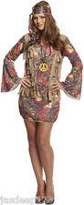 Da Donna Hippy Hippie Costume Vestito Anni'60'70 Trendy Donna Retrò