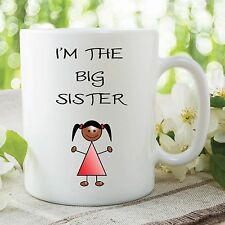 Children's Mug I'm The Big Sister Surprise Novelty Cup Birthday Gift WSDMUG134