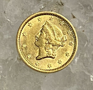 1854-S $1 Gold Liberty Head One Dollar Coin- Rare Date