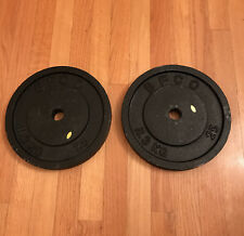 2 Vintage BFCO 25 pound 1 Inch Plates Standard Home Gym Fitness Weights
