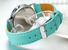 whatever I'm late anyway Luxury Women's Leather Band Analog Quartz Wrist Watch