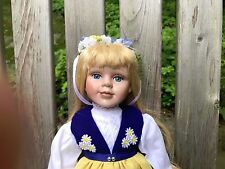 Swedish Porcelain Doll Designed by Scan Dolls with the National Costume