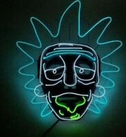 Glow In Dark Rick and Morty Lighting Grimace Mask Neon Fluorescent LED Light