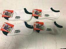 Lot of 4 Pro Feet Socks White Forest Green 12-5 Cheer Tennis Golf