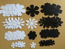 Sizzix Tattered Floral Card Making / Scrapbooking  Flowers in Black & White