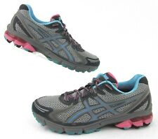 Asics GT--2170 Womens Trail Running/Hiking Shoes Charcoal/Grey/Blue US 8.5
