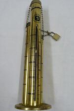 ausgefallene Säulenspardose  für  10 Pfennig, 1 DM, 5 DM  aus Messing