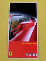 Ferrari F430 - RARE Owners Handbook Supplement - 2004 - Spanish Text