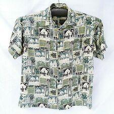 Medium Hawaiian Shirt Mens Tiki Aloha Short Sleeve Button Down Big Dogs