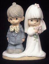 "Enesco Precious Moments Resin Wedding Couple 2 3/4"" Tall Retired 434418/S NEW"