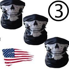 3 Ghost Biker Skull Hood Face Mask Motorcycle Ski Balaclava CS Sport Helmet