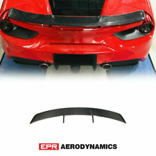 For Ferrari 488 GTB N Type Dry Carbon Glossy Rear spoiler Wing Exterior Kit