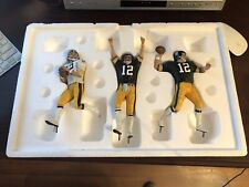 Danbury Mint Terry Bradshaw Pittsburgh Steelers Three-Piece Figurine